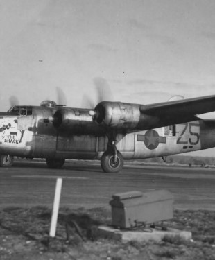 B-24J_Liberator_The_Shack_458_Bomb_Group_754_Squadron_Nose_Art_Photo